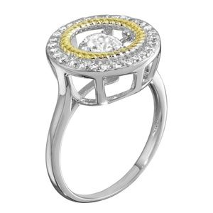 Jewelry - Open Circle Ring with Dancing CZ Engagement Ring
